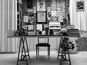 Yves Saint Laurent's workspace by Hedi Slimane